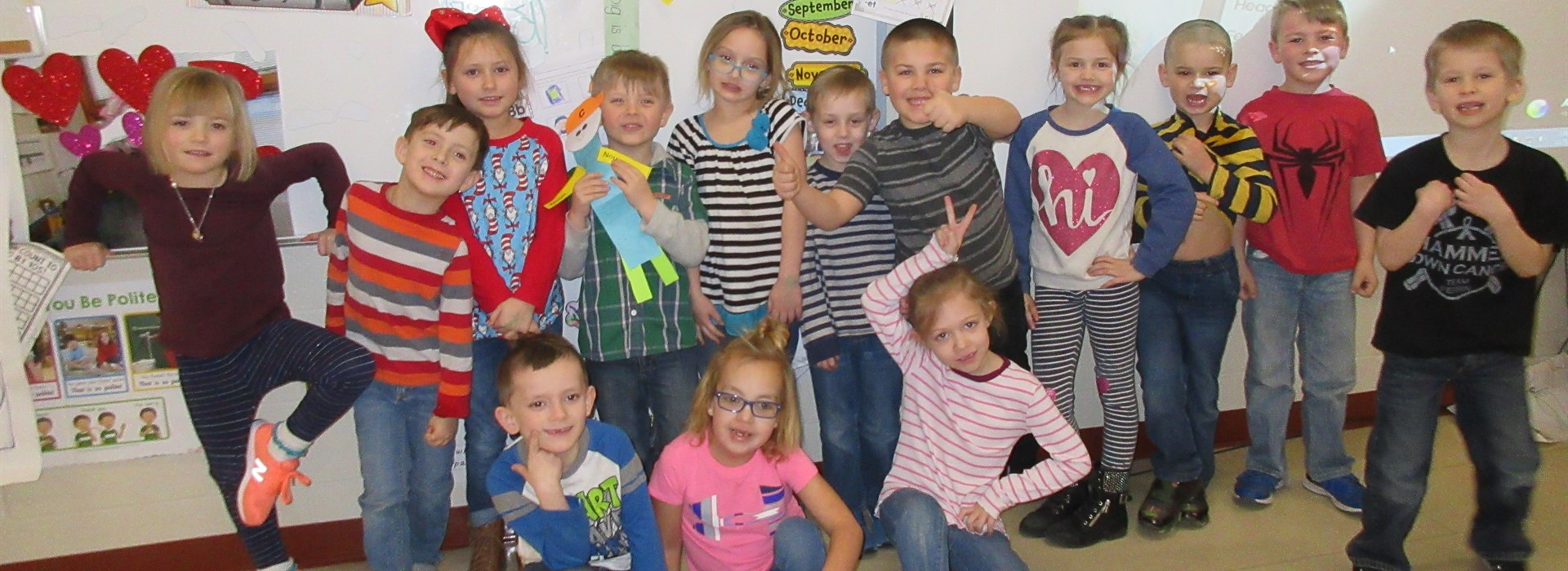 Silly Seuss Smiles in Stripes in Mrs. Cisler's Class.